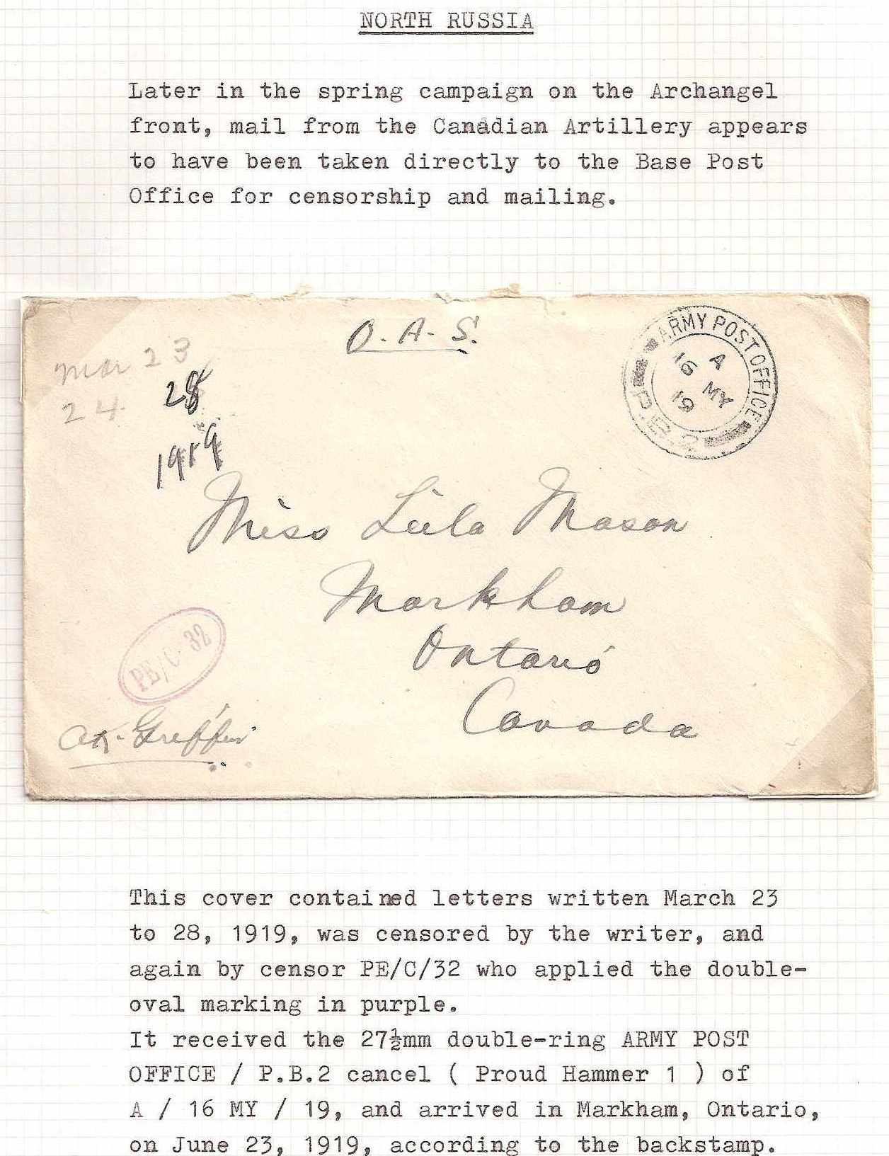 Russia Postal History - Allied Intervention