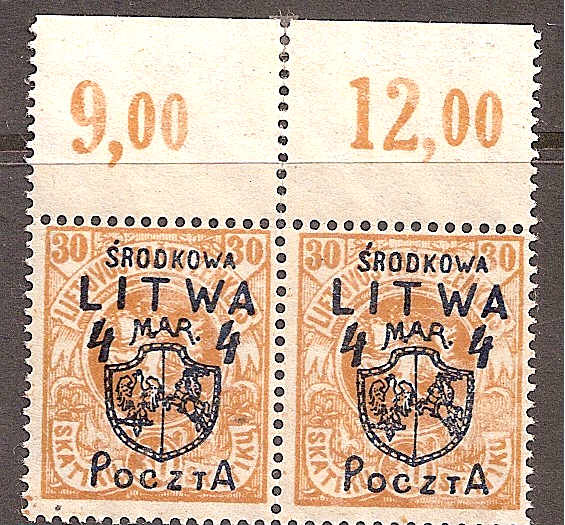 Baltic States Specialized CENTRAL LITHUANIA Scott 16