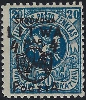Baltic States CENTRAL LITHUANIA Scott 15