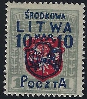 Baltic States CENTRAL LITHUANIA Scott 20