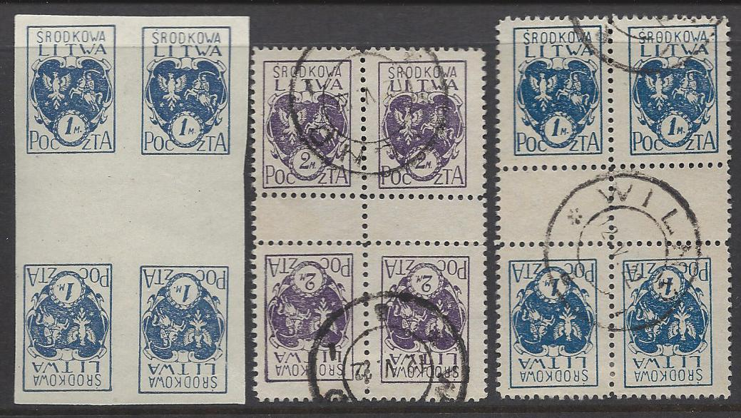 Baltic States Specialized CENTRAL LITHUANIA Scott 3,3a,5