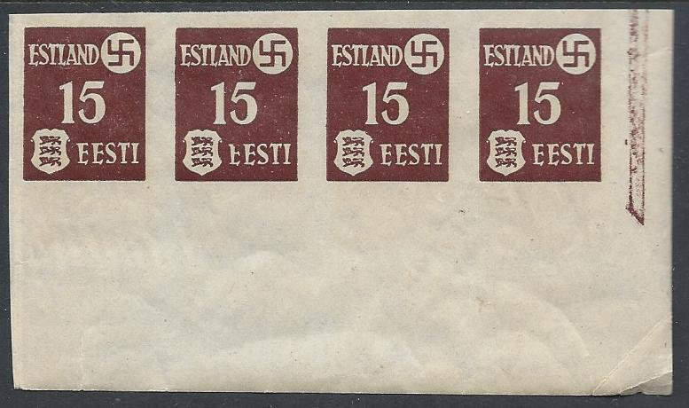 German Occupation - WWII Estonia Scott N3var