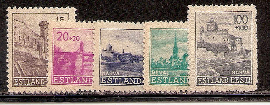 German Occupation - WWII Estonia Scott NB1-6