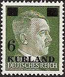 German Occupation - WWII KURLAND Scott 1N20 Michel 1