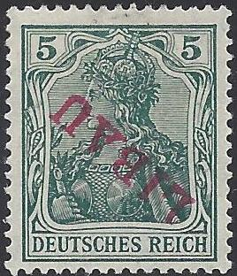 Russia Stamps-German Occupation WW1 Libau Scott 1N2var