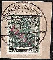 Russia Stamps-German Occupation WW1 Libau Scott 1N2 Michel 1Bb