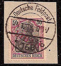 Russia Stamps-German Occupation WW1 Libau Scott 1N6 Michel 6Bb