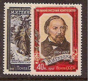 Soviet Russia - 1957-1961 YEAR 1957 Scott 1907-8 Michel 1916-7