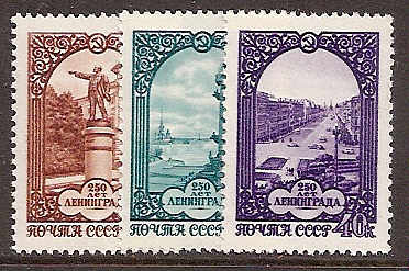 Soviet Russia - 1957-1961 YEAR 1957 Scott 1941-3 Michel 1950-2