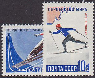Soviet Russia - 1962  966 YEAR 1962 Scott 2564-5 Michel 2607-8