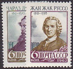 Soviet Russia - 1962  966 YEAR 1962 Scott 2588-9 Michel 2592-3