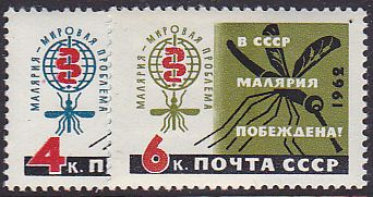 Soviet Russia - 1962  966 YEAR 1962 Scott 2594-5