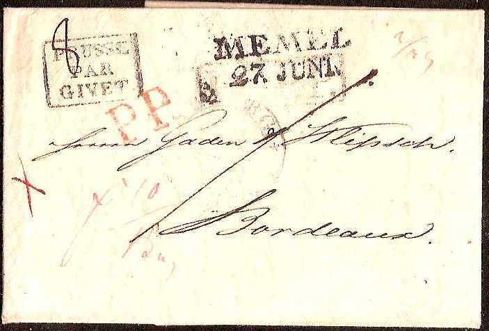 Russia Postal History - Stampless Covers ST.PETERSBURG Scott 4001822