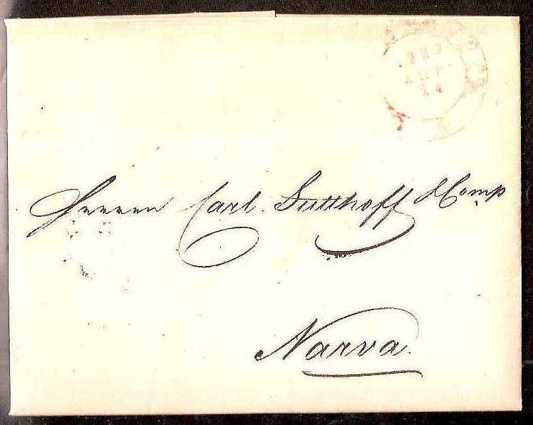 Russia Postal History - Stampless Covers ST.PETERSBURG Scott 4001829