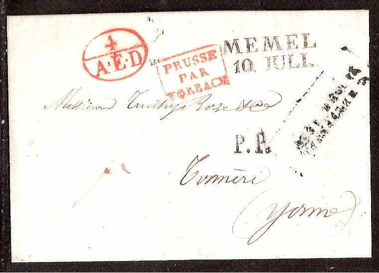 Russia Postal History - Stampless Covers ST.PETERSBURG Scott 4001833