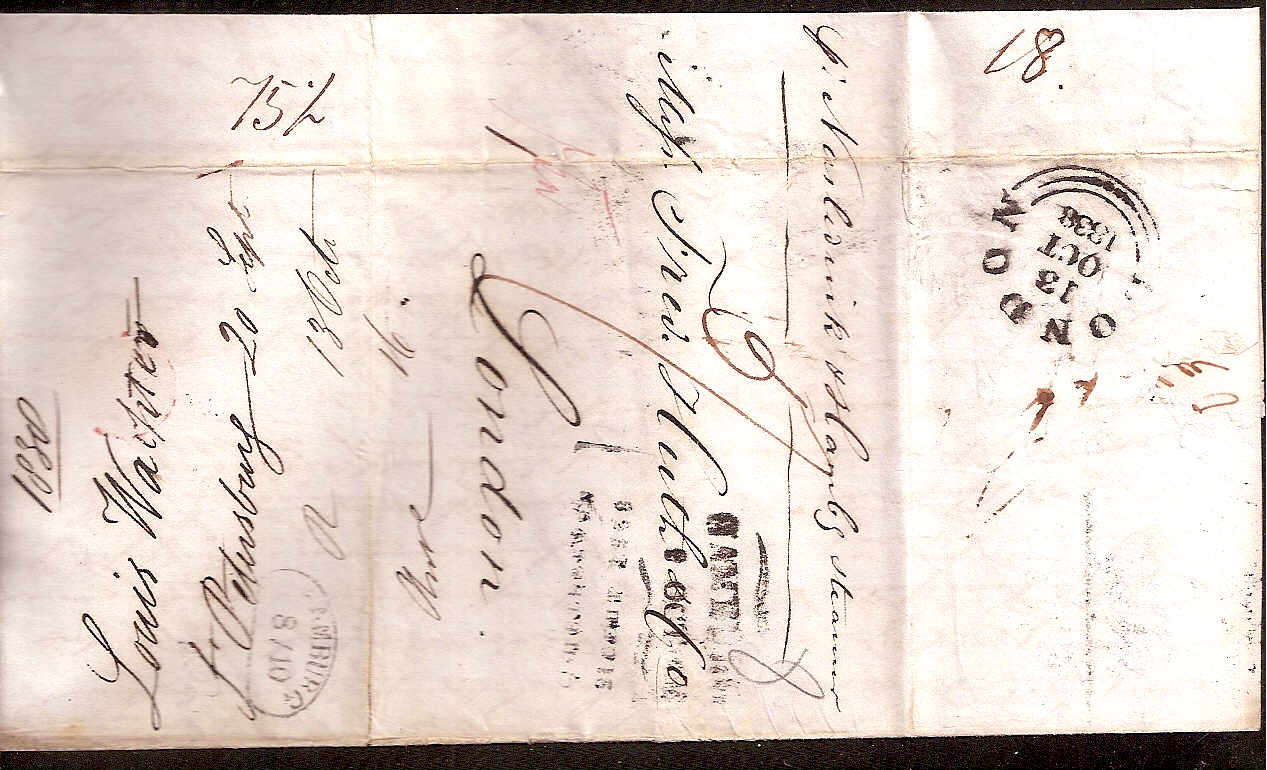 Russia Postal History - Stampless Covers ST.PETERSBURG Scott 4001838