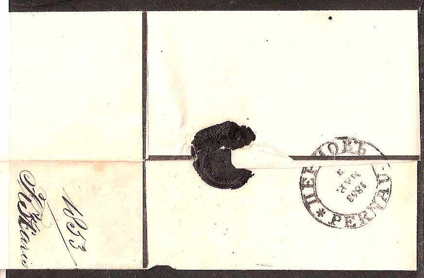 Russia Postal History - Stampless Covers PERNOV Scott 2601853